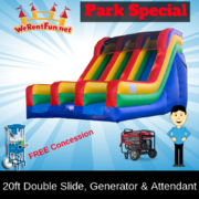 "<font color=Green><b>P12 <font color=Grey><b>Park Package # 12 Double 20ft. Dry Slide <span style=""color:#ff0000;"">  <strike> $425</strike> </span>"