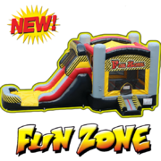 C16 Fun Zone  Bounce House With Slide (Wet/Dry) ComboBest for ages 2+ Space Needed 32 L x 21 W x 18 H