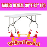 "Tables Rental 30""x 72"" (6"