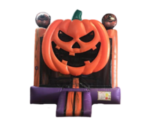 R6  3D The Jack O Lantern Bounce House  Best for ages 2+ Space Needed 17' L X 17' W X 18' H