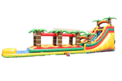 S07 65Ft Tropical Fire SUPER LONG- Water  Slide  Best for ages 5+ Space Needed 71 D x 27 W x 22 H
