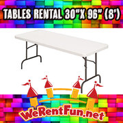 "Tables Rental 30""x 96"" (8"