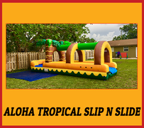S09 26FT ALOHA TROPICAL SLIP N SLIDE   Best for ages 5+ Space Needed 34 D x 14 W x 18 H