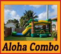 C10 Aloha Bounce House With Water Slide (Wet/Dry) Combo Best for ages 2+ Space Needed 30 L x 19 W x 20 H