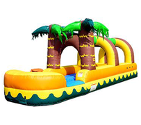 S09 26FT Aloha Tropical Slip N Slide with Pool ( Family Friendly ) Best for ages 5+ Space Needed 32 D x 12 W x 15 H