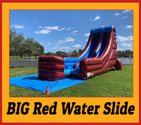 S05 20ft BIG Red Water Slide Best for ages 5+ Space Needed 41 D x 20 W x 25 H
