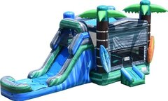 "R20 Beach ""Playero"" Bounce House With Slide (Wet/Dry)"