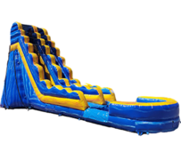 S02  22 FT Blue Crush Water Slide with XL Pool ( Family Friendly )  Best for ages 5+ Space Needed 43 D x 21 W x 26 H
