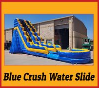 S02  22 FT Blue Crush Water Slide  Best for ages 5+ Space Needed 43 D x 21 W x 26 H