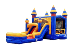 C25 Double Lane Crush Bounce House Combo (Wet/Dry)Best for ages 2+ Space Needed 37 L x 19 W x 18 H
