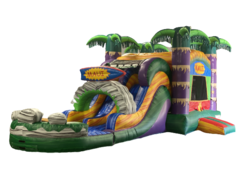 R34 - Maui Bounce House With Double Lane Slide (Wet/Dry)