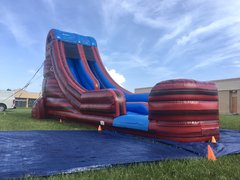 <font color=Green><b>S02<b><font color=red><b> 20ft BIG Red Water Slide </font><br><small>Best for ages 5+<br> <font color=blue>Space Needed 41 D x 20 W x 25 H</font></b></small>