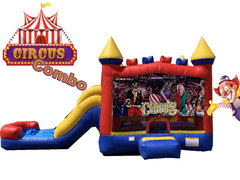 C24 Circus (Carnaval) Bounce House With Slide (Wet/Dry) Combo  Best for ages 2+ Space Needed 30 L x 19 W x 20 H