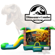 C22 Dinosaurs Bounce House With Slide (Wet/Dry) Combo Best for ages 2+ Space Needed 30 L x 19 W x 20 H