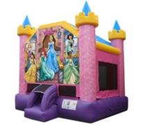 R5 Disney Princess Bounce House  Best for ages 2+ Space Needed 17' L X 16' W x 17' H