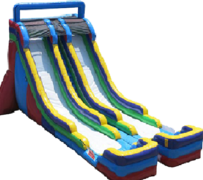 S13  The Double Trouble 24ft Dual Lane Water Slide  Best for ages 5+ Space Needed 42' D x 26 W' x  27'H