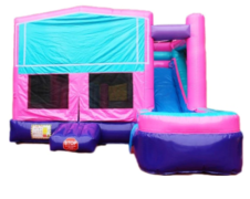 Glitter Backyard Bounce House With Slide  (Wet/Dry)