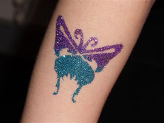 Glitter and temporary tattoos $135 per hour