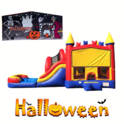 <font color=Green><b>H02  <font color=Grey><font color=Orange><b>Halloween - Mega Combo Bouncer  Wet/Dry Combo Bouncer