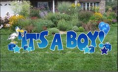 "H6  24"" It's A Boy Yard Sign  24 Hours Rental Delivery Fees May Apply"