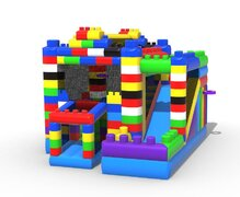 The Blocks Bounce House With Slide (Wet/Dry)