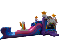 R21 - Magical Unicorn Bounce House With Double Lane Slide