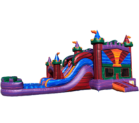 R19 - The Marvelous Palace Bounce House With Double Lane Slide (Wet/Dry)