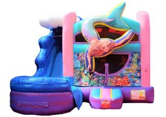 C27 Mermaid Bounce House With Slide (Wet/Dry) ComboBest for ages 2+ Space Needed 24'L x 20'W x 18'H