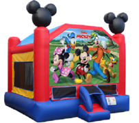 R1 Disney Mickey and Friends Bounce House  Best for ages 2+ Space Needed 17' L X 16' W x 17' H