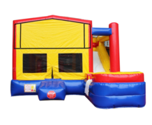 Multicolor Backyard Bounce House With Slide  (Wet/Dry)