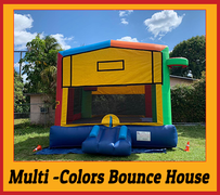B01  Mega multi-Colors Bounce House Best for ages 2+ Space Needed 18 D x 18 W x 18 H