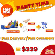 Party Time Package Bounce With Slide Package