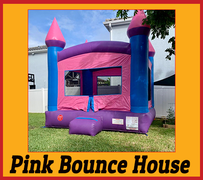 B04 Crossover Pink Bounce House  Best for ages 2+ Space Needed 15 D x 16 W x 18 H