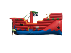 C17 Fun Pirate Ship Bounce House With Slide Inside (For Dry Use)  Best for ages 2+ Space Needed 35 L x 18 W x 20 H