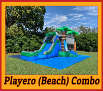 "C20 Beach Bounce House With Water Slide ""Playero combo"" (Wet/Dry)Best for ages 2+ Space Needed 32 L x 21 W x 20 H"