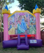 B05 Disney Princess Bounce House  Best for ages 2+ Space Needed 18 D x 16 W x 18 H