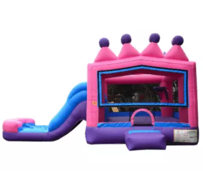 R17 - Princess Tiara Bounce House With Slide (Wet/Dry)