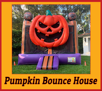 B08  3D Pumpkin Bounce House  Best for ages 2+ Space Needed 20 D x 20 W x 18 H