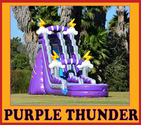 S11  22ft Purple Thunder Water Slide  Best for ages 5+ Space Needed 43 D x 21 W x 26 H