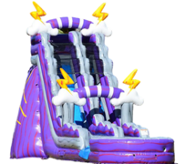 S11  22ft Purple Thunder Water Slide with XL Pool ( Family Friendly )   Best for ages 5+ Space Needed 43 D x 21 W x 26 H