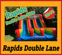 S08 20FT Rapids Double Lane - DRY SLIDE  Best for ages 5+ Space Needed 30 D x 24 W x 25 H