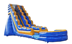 S04  22 FT Blue Crush Water Slide  (New Spring 2020) Best for ages 5+ Space Needed 43 D x 21 W x 23 H
