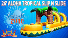 S05 26FT ALOHA TROPICAL SLIP N SLIDE   Best for ages 5+ Space Needed 34 D x 14 W x 18 H