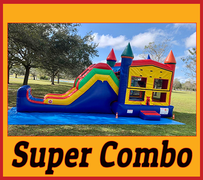 "C21 Super Combo 'Bounce House With Slide"" (For Dry Use) Best for ages 2+ Space Needed 33 L x 15 W x 18 H - Best Seller"