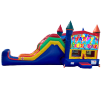 C01 Happy Birthday Bounce House With Dry Slide ComboBest for ages 2+ Space Needed 33′ L X 14′ W X 17 H
