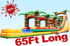 <font color=Green><b>S07<b><font color=red><b> 65Ft Tropical Fire SUPER LONG- Water  Slide  </font><br><small>Best for ages 5+<br> <font color=blue>Space Needed 71 D x 27 W x 22 H</font></b></small>
