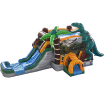 R11 - The Jurassic Bounce House With Slide (Wet/Dry)
