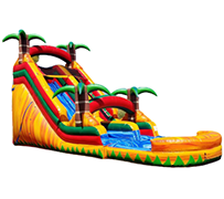 S04 18FT Tropical Paradise - Water  Slide with XL Pool ( Family Friendly )  Best for ages 5+ Space Needed 40 D x 27 W x 21 H