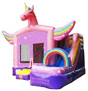 C26 Unicorn Bounce House With Slide  (Wet/Dry) Combo Best for ages 2+ Space Needed 22ft L x 20ft W x 17ft H