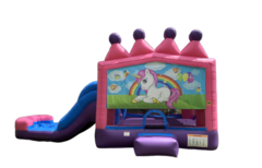 C02 Unicorn Bounce House With Slide (Wet/Dry) Combo Best for ages 2+ Space Needed 30 L x 19 W x 20 H